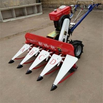 农作物秸秆割晒机 成行铺放式象草收割机 四轮带割杆机