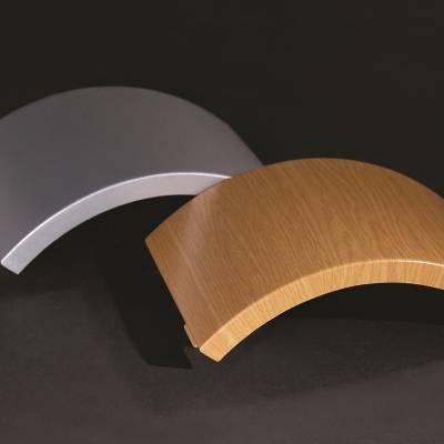氟碳铝单板幕墙厂家定制价格低弧形造型圆形双曲铝单板 门头招牌铝合金板墙面装饰木纹