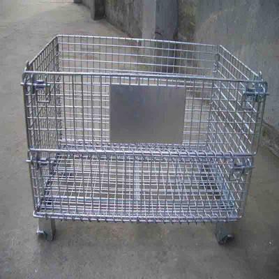 镀锌金属折叠仓储笼 吉林金属仓库笼 贵州铁丝笼