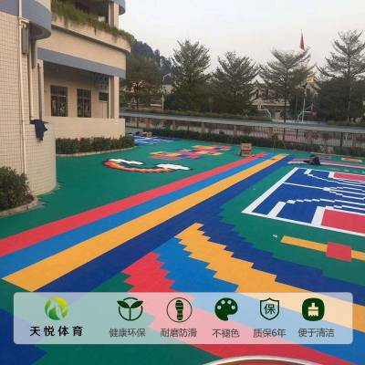 驰名品牌悬浮地板,天悦幼儿园悬浮地板安装,新疆拼装地板厂家