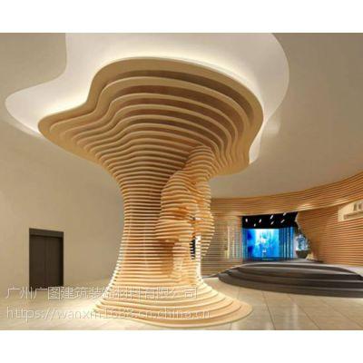 广州艺术造型铝方通吊顶厂家加工定制(厂家直销)