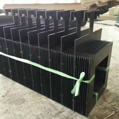 厂家定制一字型防护伸缩式风琴防护罩一字耐高温防护罩
