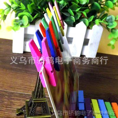 3.5CM精美彩色木质小夹子创意 DIY手工配件 名片留言便签照片夹