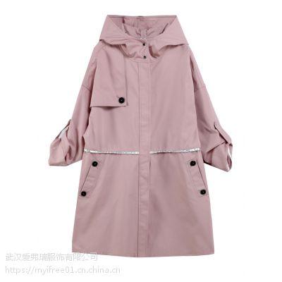 女装直销走份娅丽达19年春装新款风衣外套