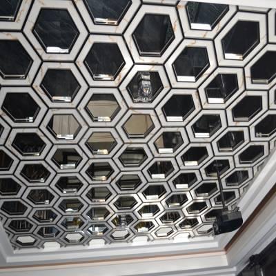 高级会所不锈钢屏风装饰 红古铜不锈钢屏风隔断