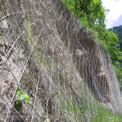 四川贵州边坡防护网厂家防落石主动边坡防护网钢丝绳网