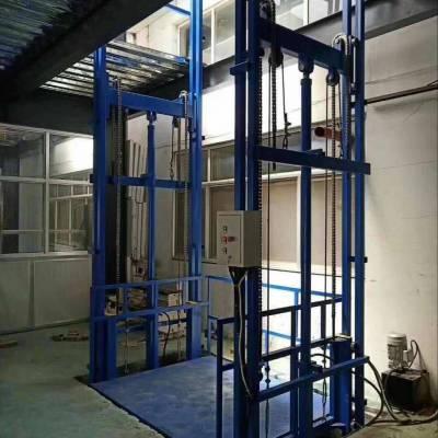 济南恒久机械厂家直销厂房仓库导轨式升降货梯 导轨链条式升降机 小型导轨式升降机