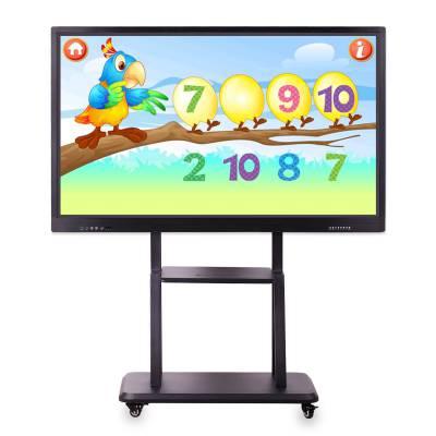 欣创鑫供应65寸壁挂触控一体机教学电子班牌触摸广告机高清显示器