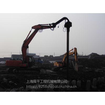 南京出租小松349液压打桩锤 拉森桩钢板桩租赁打拔围堰施工一条龙服务江苏省拉森桩水泥桩打拔