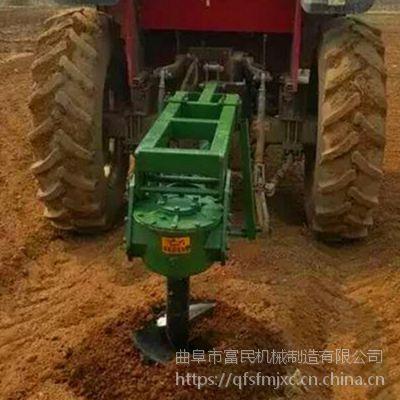 四轮带好用挖坑机 小树苗打洞机价格