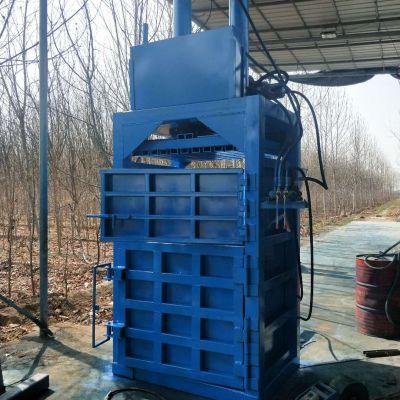 恒邦金属立式压缩打包机 牧草立式液压打包机