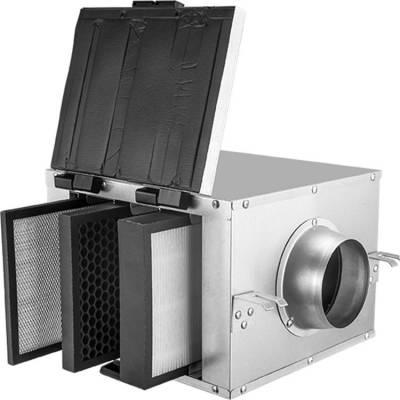 艾锐斯厂家可定制新风系统净化静音净化箱除甲醛管道排风机风柜