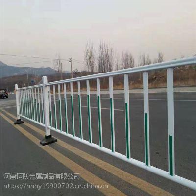 工厂定制道路景观护栏 马路两边人车分离镀锌管栏杆 锌钢京式隔离栏