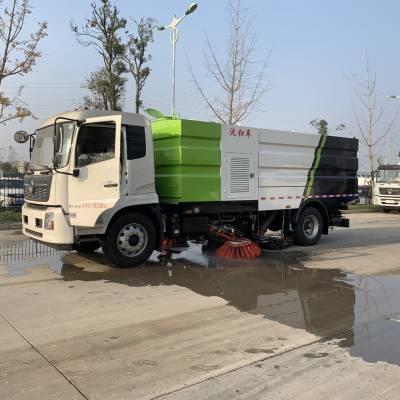 东风天锦国六洗扫车,清扫抽吸与高压冲水组合多功能,价格实惠
