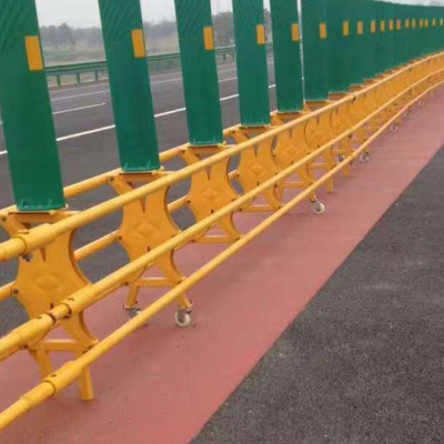 活动开口式护栏、高速可移动活动防护栏、顶部带防眩板开口订制栏杆