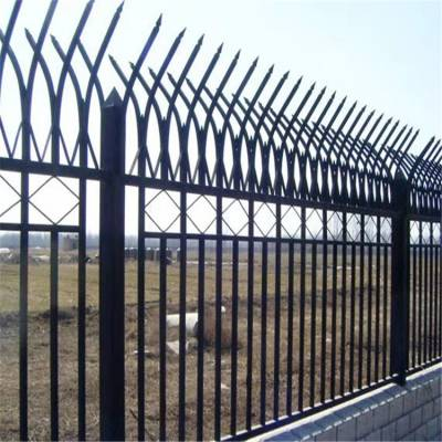 锌钢围墙护栏 北京小区别墅庭院学校防攀爬围墙栅栏 室外保护栏定制