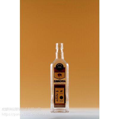 玻璃瓶厂定制生产晶质料玻璃油瓶可蒙砂电镀喷漆烤标印logo