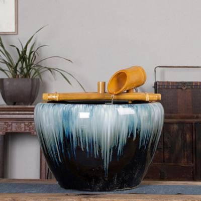 景德镇辰天 陶瓷流水喷泉创意工艺品 桌面雾化器摆设