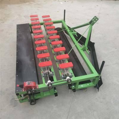 胡萝卜起垄施肥播种一体机-两垄四行娃娃菜精播机-自走式汽油手推小颗粒播种机厂家