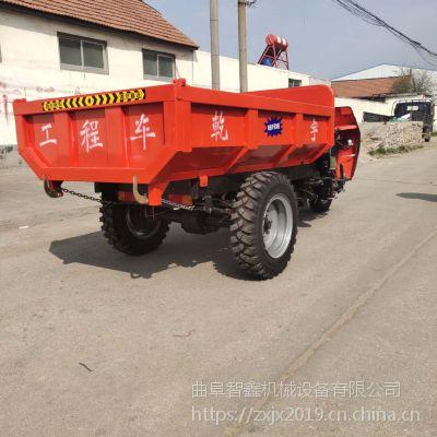 小型柴油动力农用三轮车 带高低速的农用工程翻斗车 矿用工程三轮车