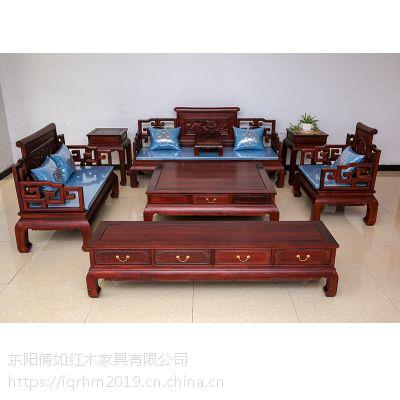 新中式红木家具祥和沙发整装组合客厅实木沙发倩如红木