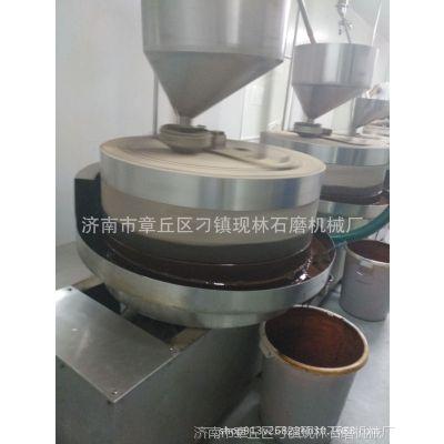 石磨香油设备芝麻花生磨油机全自动香油磨油机全设备 现林石磨