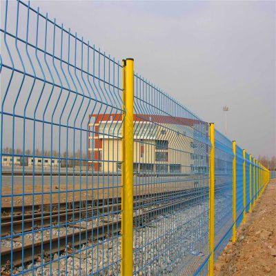桃型柱护栏网 三折弯护栏网 停车场护栏网厂家