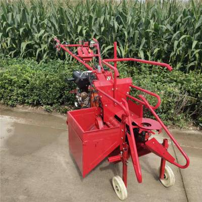 东北起垄单行苞米收获机-单行苞米玉米摘穗收获机-不卡机柴油苞谷收割机质量保证