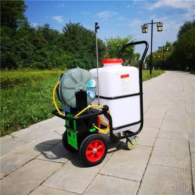 养鸡场用拉管式消毒机 60L电动喷雾机 大棚草莓喷药机 旭阳供应