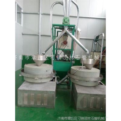 人推石碾观光体验石碾厂家直销电动石磨面粉机组石磨面粉机