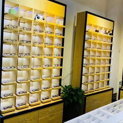 运城市简约现代眼镜柜台 高档眼镜店货架 中岛柜展示架子陈列柜定做