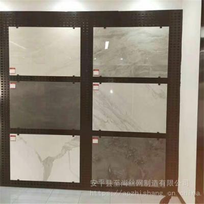 800瓷砖冲孔板 地砖网孔板货架 冲孔板展示架生产厂家