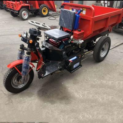 柴油农用三轮车自卸式运输翻斗车混凝土家用拉粮车