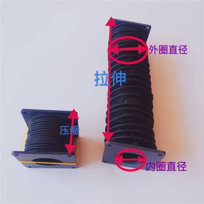 圆形内钢丝圈称制丝杠防护罩 防火耐高温油缸气缸防尘机床护罩