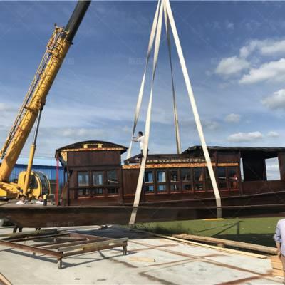 四川成都木船厂家定制16米防腐景观红船