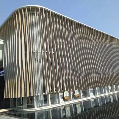 曲面弧形铝单板组合吊顶-造型铝天花铝幕墙