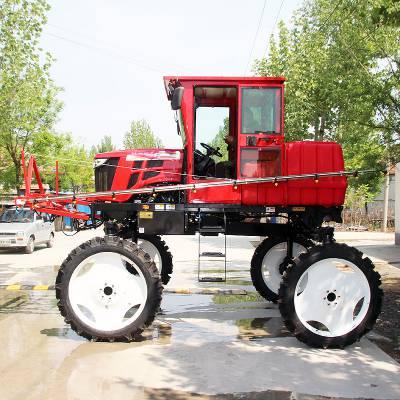 新型自走式喷杆喷雾机 自走式水田打药机 水稻喷药机 山东金原装备