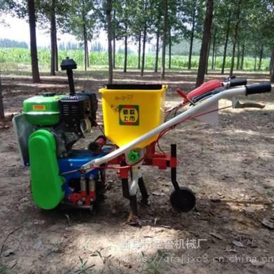 山西家用小麦播种机 小麦施肥播种机 圣鲁牌大马力施肥追肥机