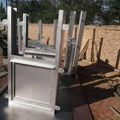 厂家加工定制附壁式不锈钢方闸门 FBZM钢制闸门 不锈钢水闸闸门