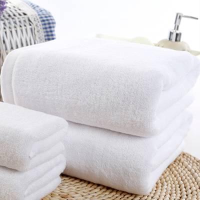白色纯棉浴巾800g加厚吸水星级酒店宾馆民宿大毛巾定制logo