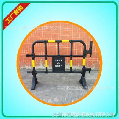 1.4米黄黑塑料护栏 胶马护栏现货供应 活动式施工围挡