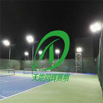 网球场LED照明灯市场价|几盏196WLED灯可以替换1000W金卤灯|LED网球场灯具配光