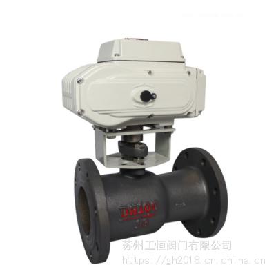 Q941M电动一体式高温球阀 铸铁一体式排污球阀 厂家直销