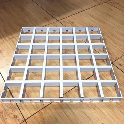 药店定制铝格栅 100X100白色铝格栅厂家
