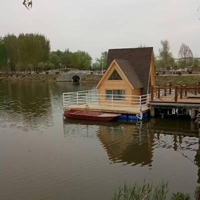 供应水上房屋水上别墅景区岸边别墅