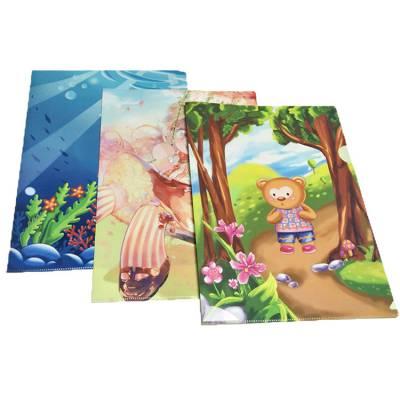 厂家直销单片A4广告促销办公收纳文件袋卡通PP塑料L型资料文件夹
