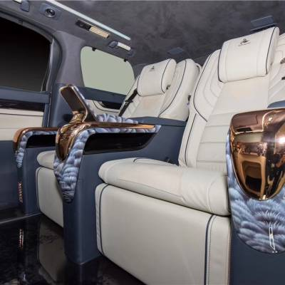 丰田埃尔法保姆四座豪华商务座舱全隔断吧台升级定制不限