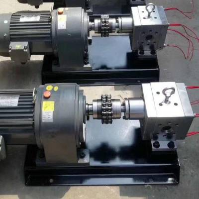 熔体泵热熔胶泵胶水泵热熔胶机熔喷布齿轮泵高温挤出机熔喷计量泵