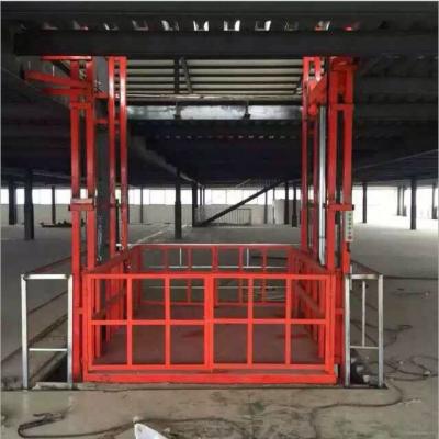 航天定做厂房二层二站电动链条式升降机|固定导轨式液压升降货梯|大吨位物料举升机|价格优惠