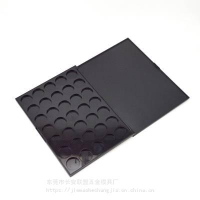 热销新款35色方形哑黑塑料眼影盘